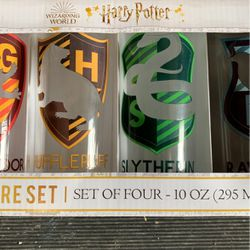 Harry Potter Set Of 4 Glasses House Logos New for Sale in Auburn,  WA