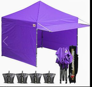 New ABCCANOPY Canopy 10 x 10 Instant Shelters Commercial Portable, in purple for Sale in Hesperia, CA