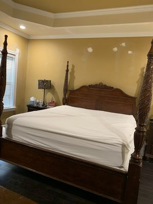 King bed frame solid wood for Sale in Murfreesboro, TN