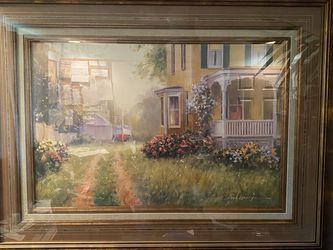 """Beautiful Victorian Home with Sail Boat Picture 56"""" x 45"""" for Sale in Vancouver,  WA"""