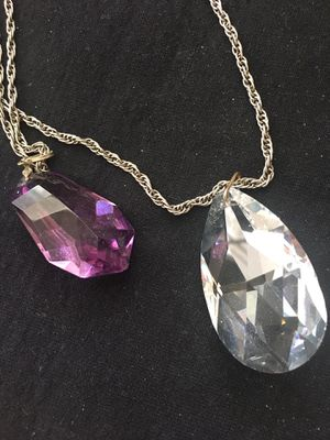 Bling Bling - Crystal Nuggets with antique silver chains. for Sale in Charles Town, WV
