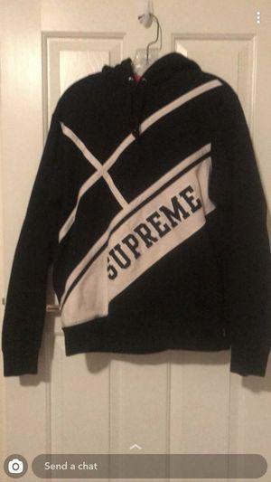 Supreme Diagonal Hoodie Black Size Medium for Sale in Las Vegas, NV
