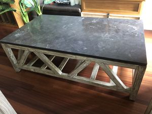 Accepting All Reasonable Offers!! Like New RESTORATION HARDWARE Marble/ Wood Coffee Table for Sale in Atlanta, GA
