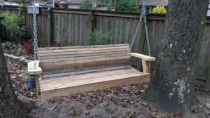 Custom built porch swing for yard or garden or farmhouse bench for Sale in Huffman, TX