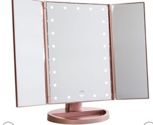 Touch 3.0 Trifold Dimmable LED Makeup Mirror for Sale in Dallas, TX