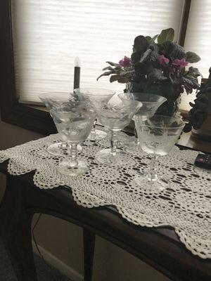 Antique martini glasses for Sale in National Park, NJ