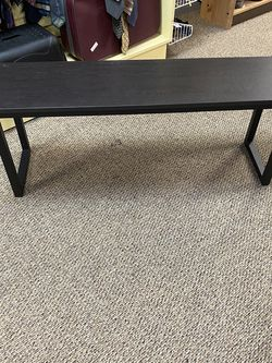 Bench Brown Modern Metal Base 2 Available for Sale in Gainesville,  FL