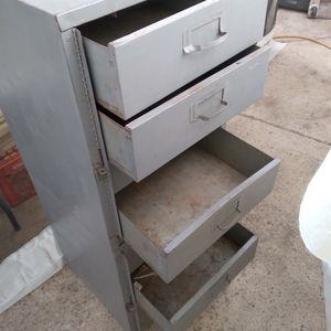 """Metal Tool Box 8 Drawers Or Nuts & Bolts Storage 4'tall X18""""x18"""" $40. for Sale in Lakeside, CA"""