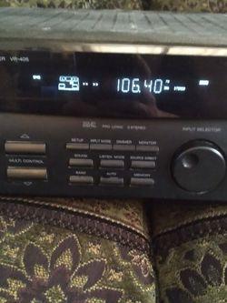 Kenwood Audio-video Surround Receiver VR-405 With 2 Polk Audio Speakers for Sale in Browns Mills,  NJ