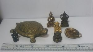 Asian Brass Amulet Miniature Statues Collection 7 Pcs. for Sale in Beaverton, OR