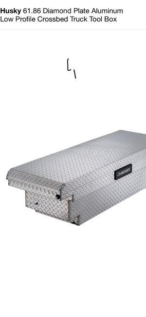 Husky 61.86 Diamond Plate Aluminum Low Profile Crossbed Truck Tool Box for Sale in Fremont, CA