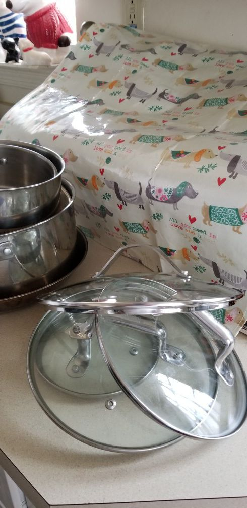 T-Fal Stainless Steel Cooking Pan Set