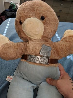 SMOKEY THE Bear FOREST Fires Ranger 1960s Vintage Make offer Stuffed Animal for Sale in Independence, OH