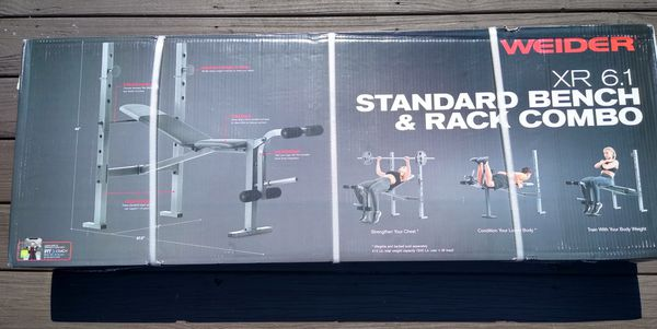 WEIDER XR 6.1 Weight Bench and Rack Combo - NEW IN HAND?