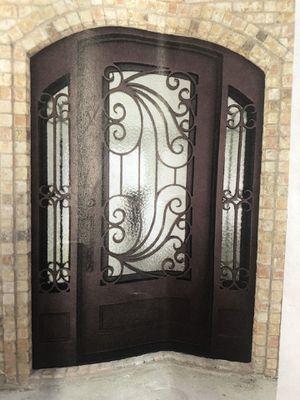 Iron Door Single with Sidelights for Sale in Keller, TX