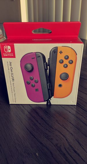 Purple and Orange Joycons for the Nintendo Switch for Sale in Huntington Beach, CA