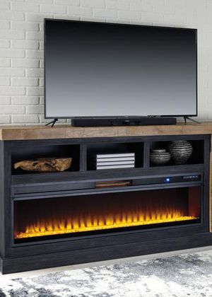 🔔Tonnari Two-tone Brown XL TV Stand with Wide Fireplace Insert | W715-68 by Ashley for Sale in Baltimore, MD