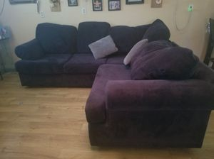 Sectional Couch black color for Sale in Gilroy, CA