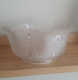 Older Unique Fluted Scalloped Edge Glass Shade for Sale in Gaithersburg, MD