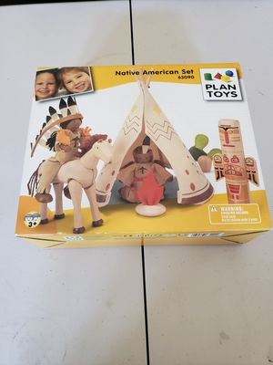 PLAN TOYS Native American Set 63090 Rare Collectible toy set for Sale in La Mesa, CA