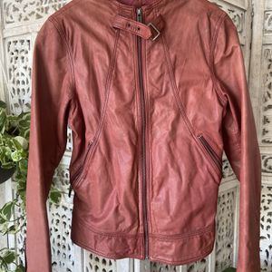 Topgun women's Maroon Leather Jacket for Sale in Los Angeles, CA