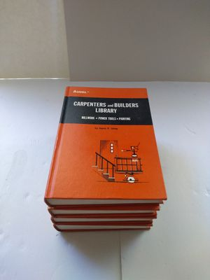 Vintage Carpenter's and Builders Library 1970 Hardcover Books for Sale in Hapeville, GA