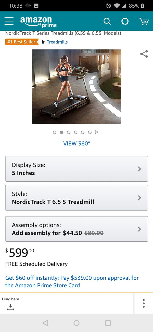 Great new condition of NordicTrack treadmill brand new still in box.