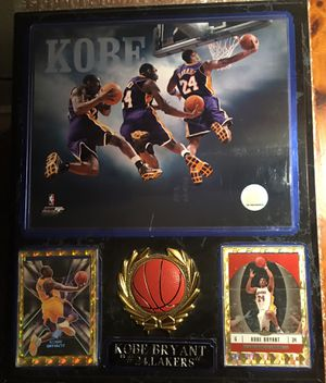 Kobe Bryant plaque with 05-06 cards and Photo for Sale in San Antonio, TX