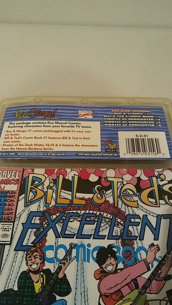 1994 Limited Edition Treat Pedigree Ren & Stimpy #1, Bill & Ted's #1, Dark Water