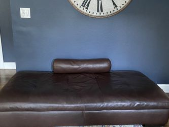 Large Leather Ottoman / Seat And Pillow (not Attached) for Sale in North Bend,  WA