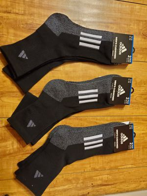 ADIDAS 2 PAIR CUSHIONED SOCKS for Sale in Compton, CA