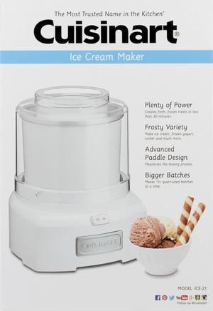Brand New Cuisinart ICE-21 1.5 Quart Frozen Yogurt-Ice Cream Maker (White) for Sale in Seattle, WA