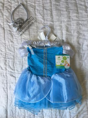 Disney Princess CINDERELLA Halloween dress up, size 12-18 months for Sale in North Ridgeville, OH
