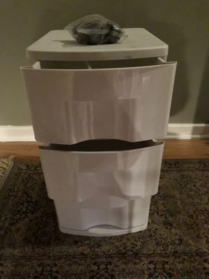 3 drawer plastic storage cabinet for Sale in Chicago, IL
