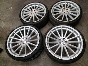 22 INCH WHEELS FOR MERCEDES BENZ S550 WITH TIRES for Sale in Rosemead, CA