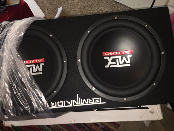 "MTX TNP212D2 12"" 1200W Dual Loaded Car Subwoofer Audio w/ Sub Box and Amplifier"