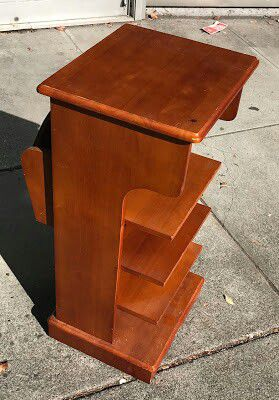"#30360 Asian Teak 30"" x 15"" Square Organizer Shelf on Wheels for Sale in Oakland, CA"