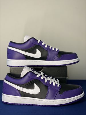 Air Jordan 1 Low Court Purple Black DS SIZE 10.5 for Sale in Silver Spring, MD