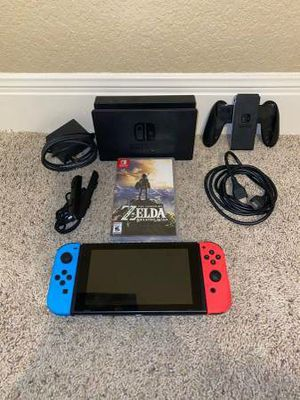 Nintendo switch V2 +Zelda for Sale in Gilbert, LA