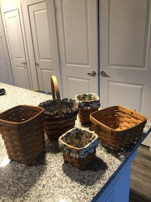 5 longaberger baskets for Sale in Lewisville, TX