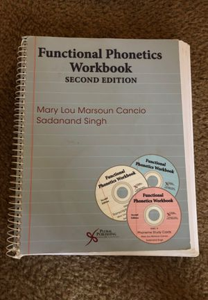 Speech text/work book for Phonetics for Sale in Fresno, CA