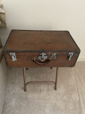 Antique metal suitcase end table or nightstand for Sale in Pittsburgh, PA