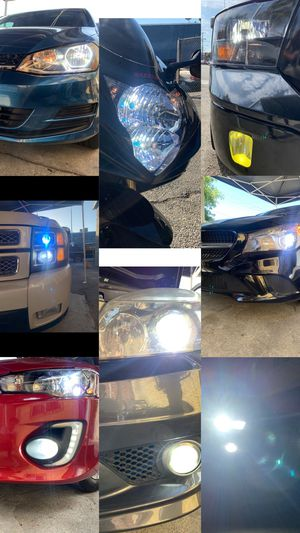 Led headlights or fog lights 25$ & FREE license plate led for Sale in Los Angeles, CA