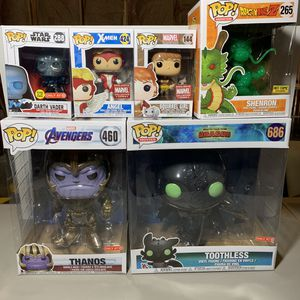 Marvel, Star Wars, X-men, Dragonball Z and Toothless Funko Pops for Sale in Antioch, CA