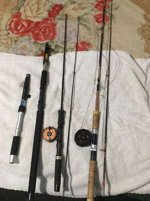 Two fly fishing and two regular fishing rods for Sale in West Nyack, NY