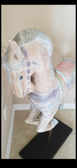 ACCEPTING REASONABLE OFFERS!!! *VINTAGE* RARE CAROUSEL HAND PAINTED WOOD HORSE for Sale in Delray Beach, FL