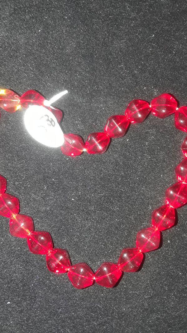 Vintage red bead bracelet