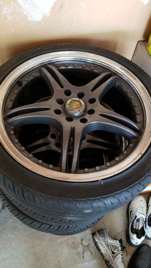"""Set of 4 17"""" rims with tires for Sale in Kirkwood, NJ"""