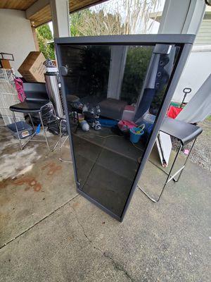 Black shelf storage glass door for Sale in Kent, WA