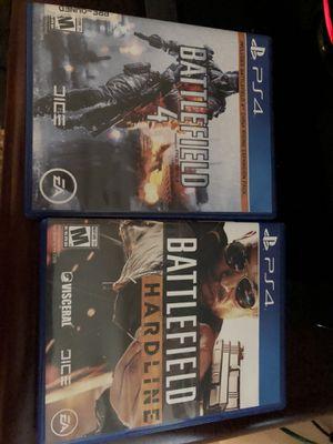 Battlefield hardline & battlefield 4 for Sale in Dallas, TX